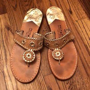 Gold Cork Sandals size 9